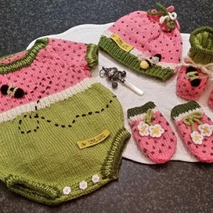 Watermelon Baby Onesie Romper set Pattern