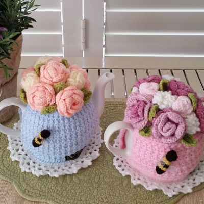 Rose Garden Bouquet Tea Cosy Pattern