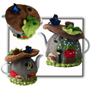 Fairy Brown Mushroom House Tea Cosy Pattern