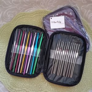Crochet Hook Set in Protective Holder case
