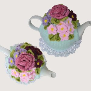 Violets & a Rose Tea Cosy Pattern