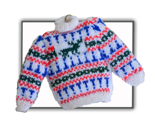 1/12th Scale Miniature Stag Fair-isle Jumper for your dollhouse