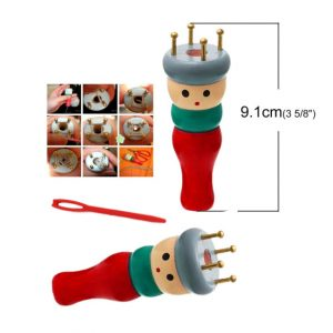 french knitting spool, aka knitting doll