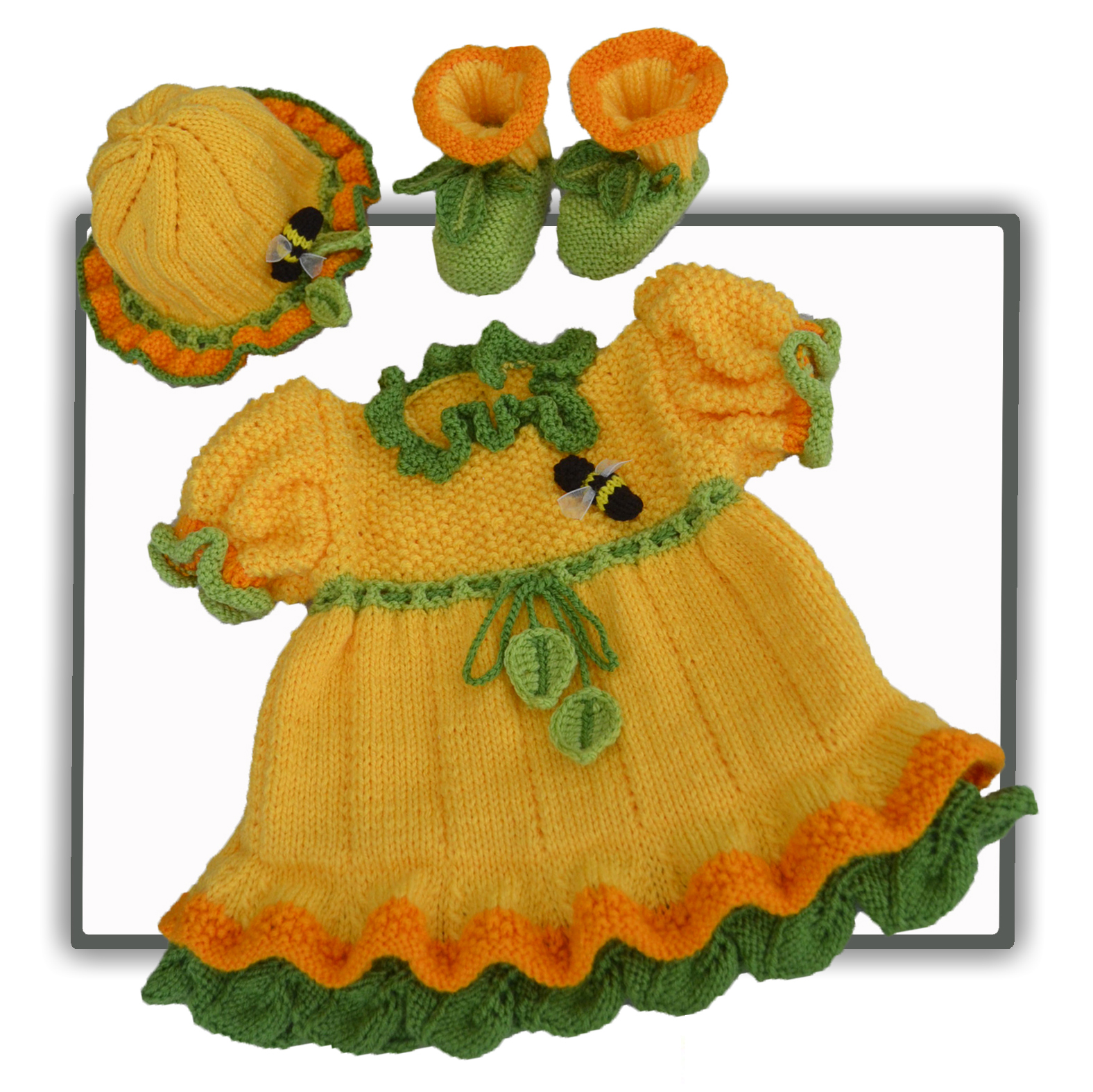 daffodil baby dress set