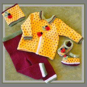 Granadilla Ladybug Baby Set