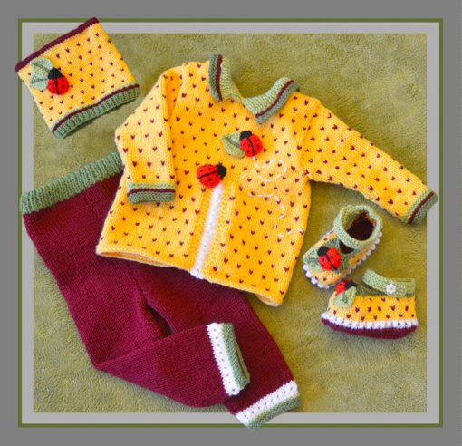 Granadilla (passion fruite) baby layette image