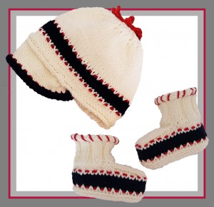 oh baby! booties and beanie cap logo