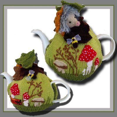 mushroom hedgehog tea cosy