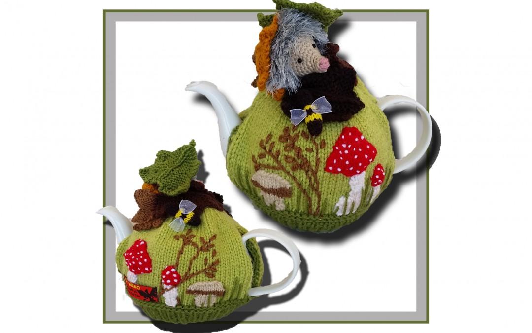 Hedgehog Mushroom Tea Cozy