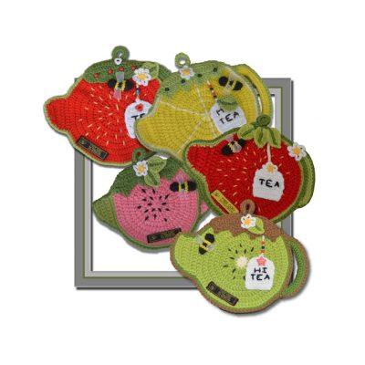 fruit teapot pot holders pattern in crochet
