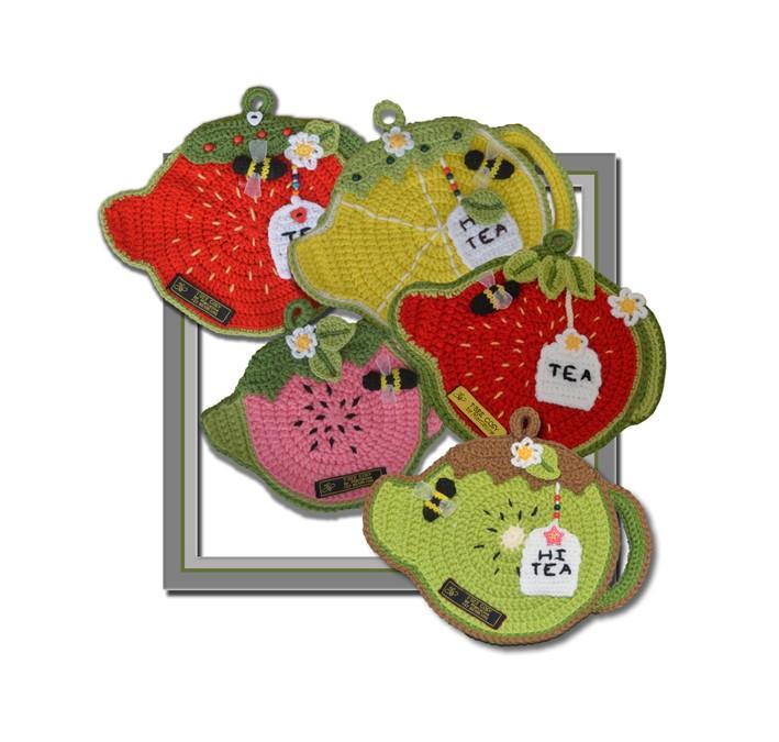Fruity Tea Pot – Pot & Plate Holders