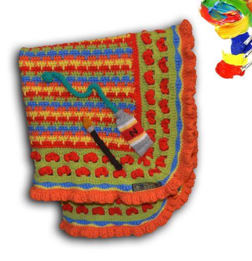 Paint Box baby blanket