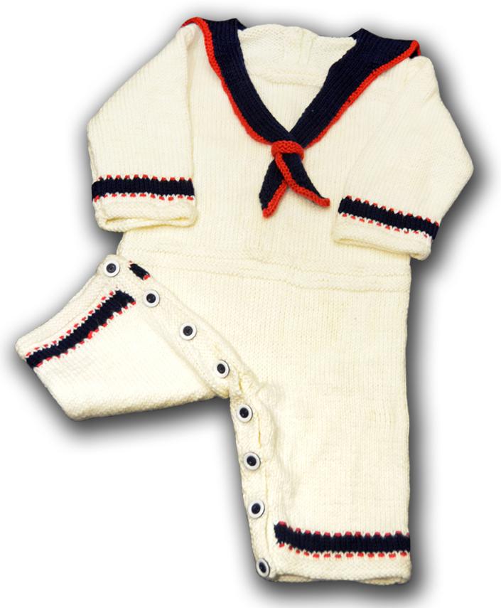 baby sailor onesie romper FRONT