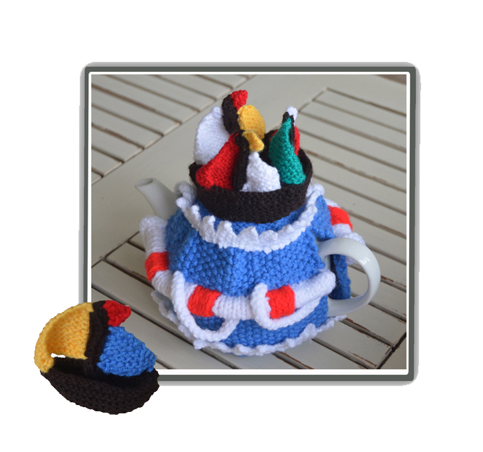 Ahoy! Sailboat Yacht Nautical Tea Cosy