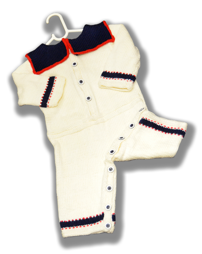 baby sailor onesie romper BACK