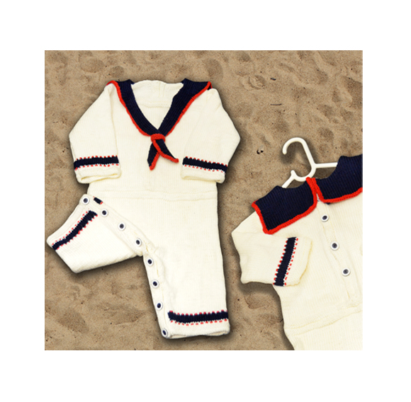 Ahoy!  Sailor Onesie Romper for babies 3, 6 & 12 months