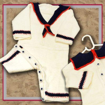 baby sailor onesie romper