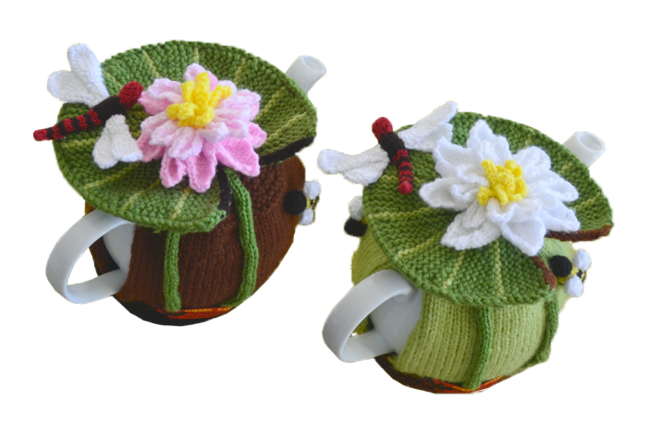 Water Lily & Dragonfly and Honey Bee Tea Cozy