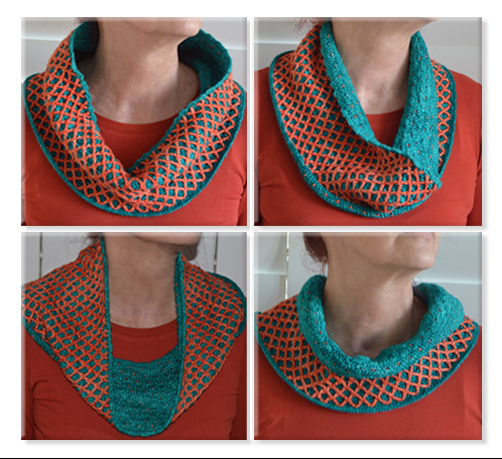 Reversible Infinity Scarf, cowl or neck warmer