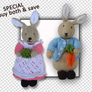Beatrix Flufftail & Peter Bunny Rabbit Patterns together