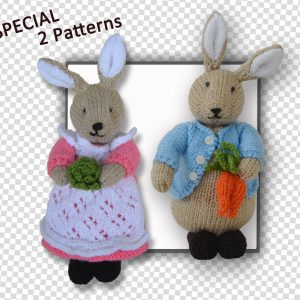 Peter Bunny Rabbit and Beatrix Flufftail Bunny Rabbit Toy (2 patterns)