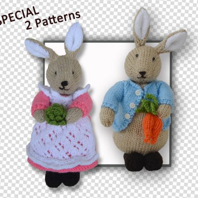 Beatrix Flufftail & Peter Bunny Rabbit Patterns in 1
