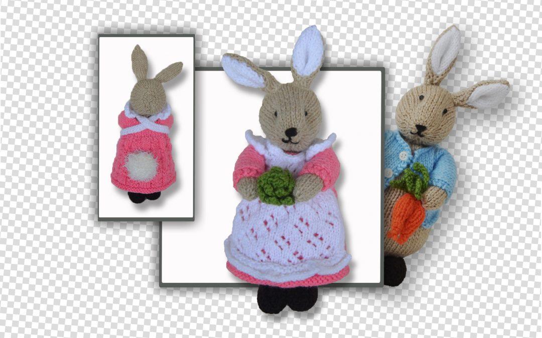 Beatrix Flufftail & Peter Bunny Rabbit to knit