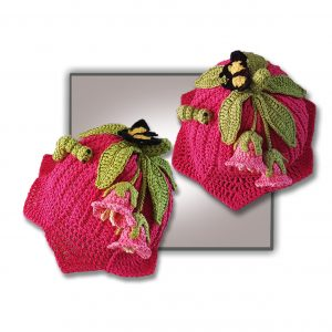 Pink lily crochet hat for birth to teen, plus