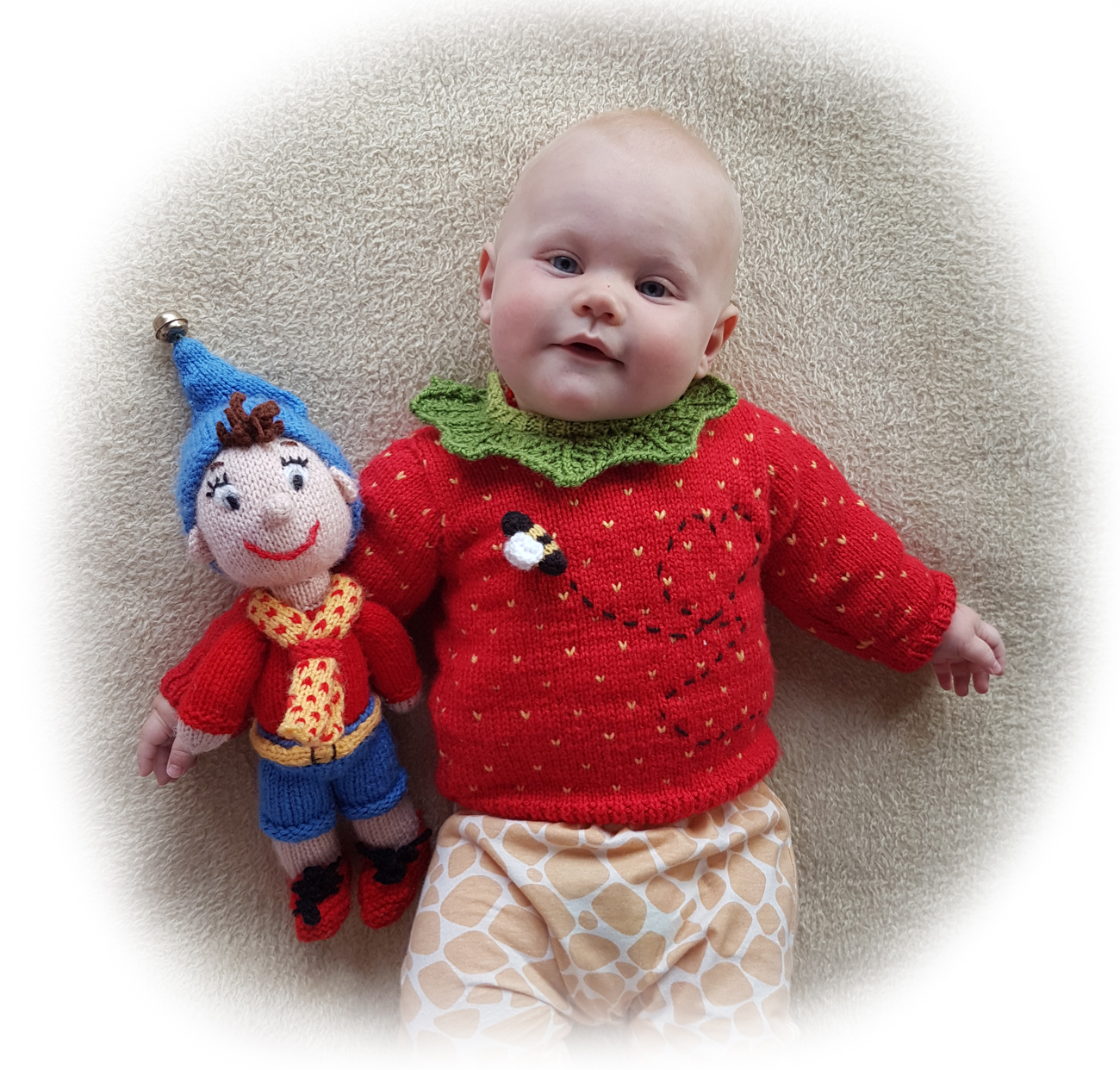 Noddy man knitting pattern image