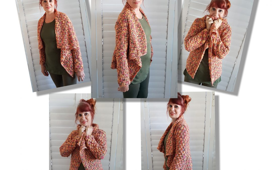 Easy and quick to make a Reversable Sleeved Shawl Knitting Pattern