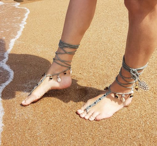 Free pattern of Bare-foot Sandals by Marcelline Simonotti