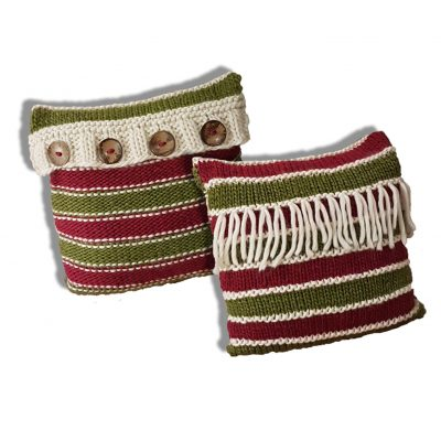 2in1 reversible cushion knitting pattern