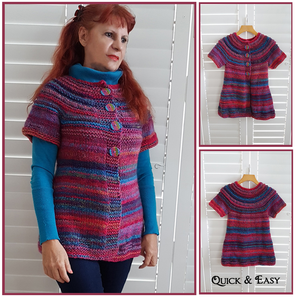 over the rainbow cardigan knitting pattern
