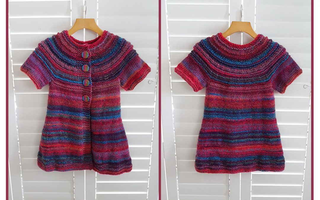 Over the Rainbow Short-sleeve cardigan top