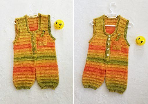 sunshine dungarees knitting pattern