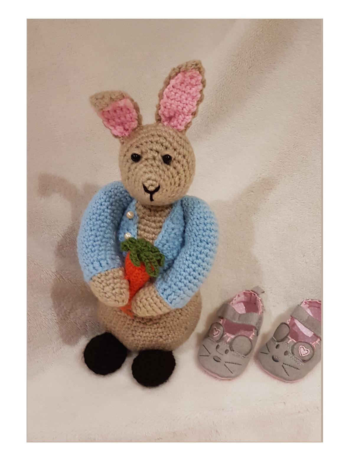 Peter Bunny Rabbit Crochet Toy