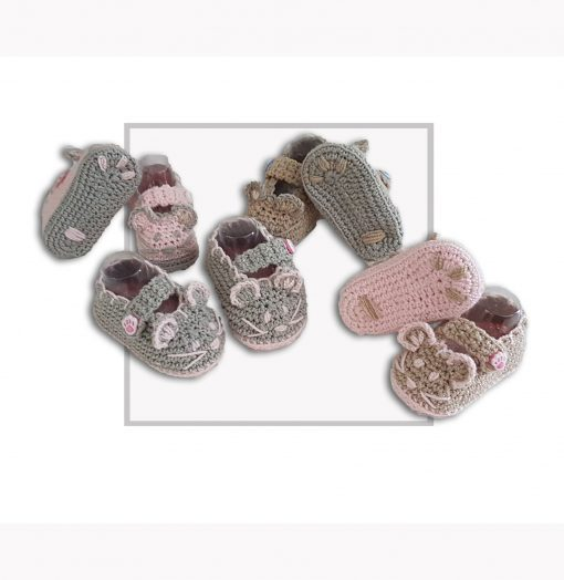 Crochet Mouse Booties