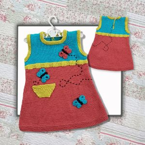 butterfly tunic knitting pattern image
