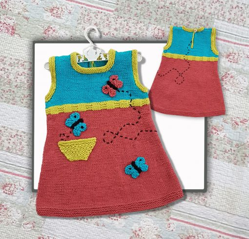 butterfly tunic knitting pattern image