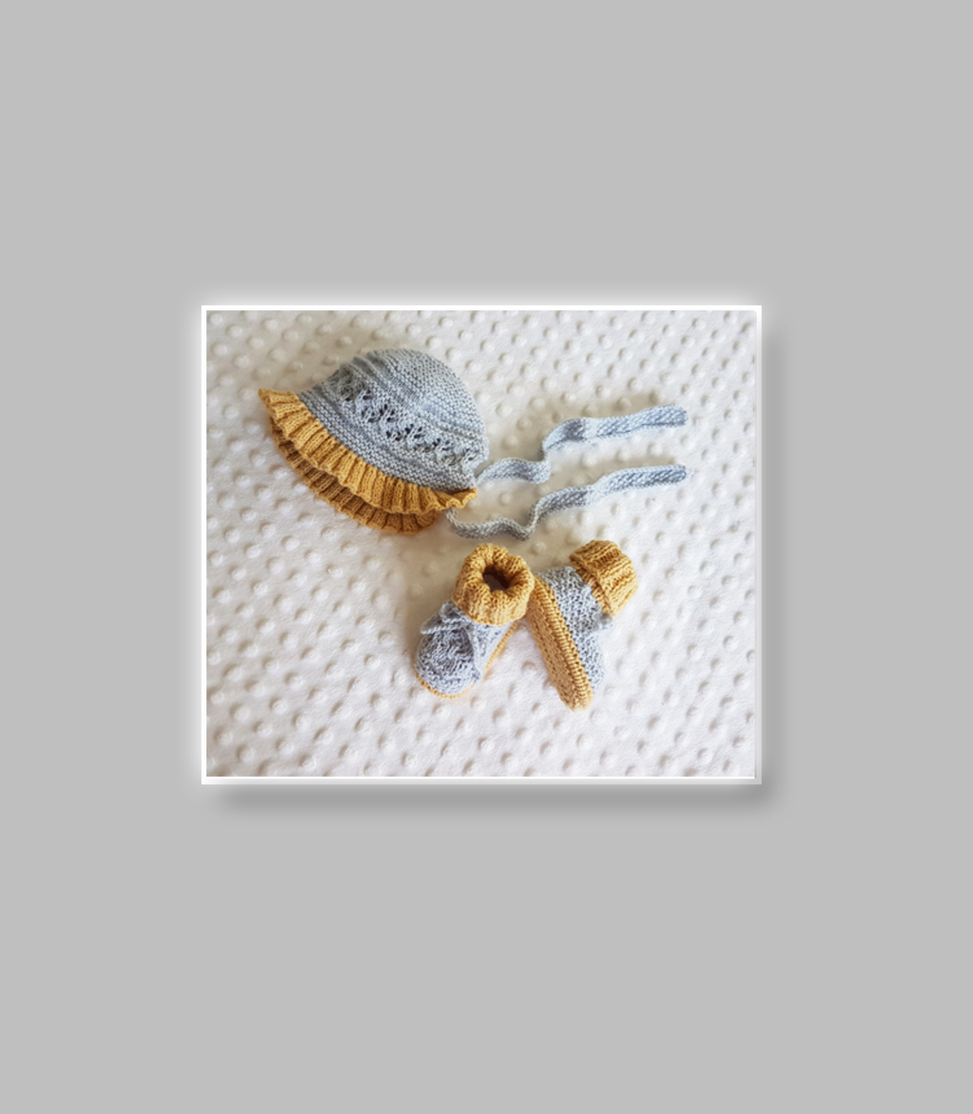 angel lace baby layette set