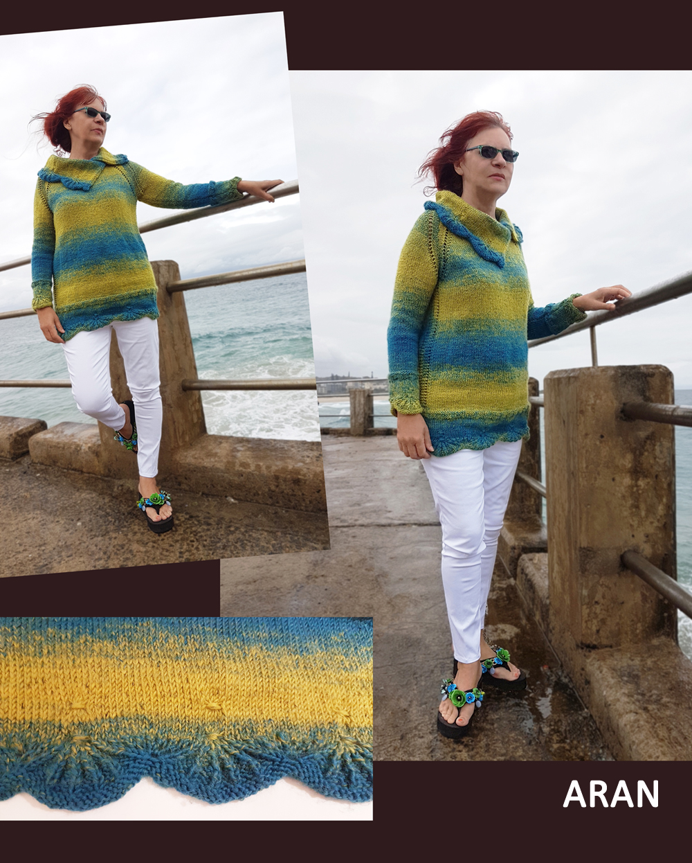 scallops and seaside Sweater