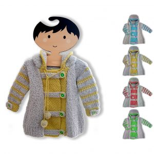 DK  – Joyful Hoodie Coat  .PDF Pattern  0 – 7 years