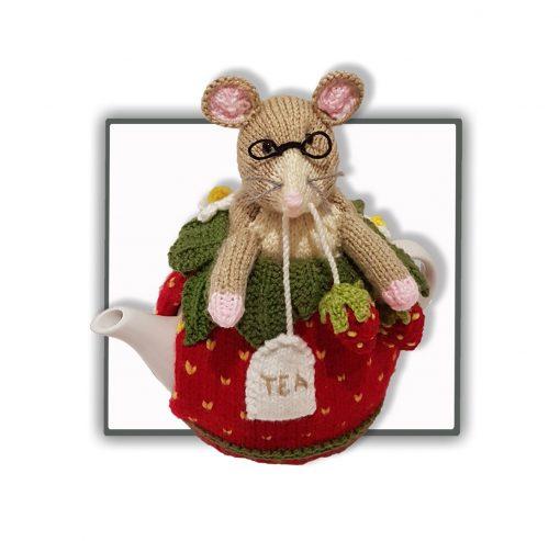 Strawberry Dormouse Tea Cosy