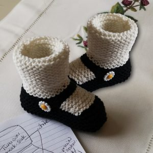 Mary-Jane Daisy Booties   (0-12 months)