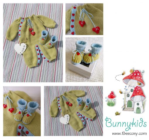 Hearts and Kisses Onesie and Bootie Set