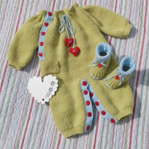 Hearts and Kisses Onesie and Bootie Set  – 0 – 9 months