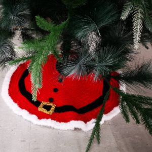 Christmas Tree Skirt – Crochet Pattern – Beginners delight