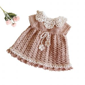 Little Angel Baby Dress – 1 to 3 months – crochet